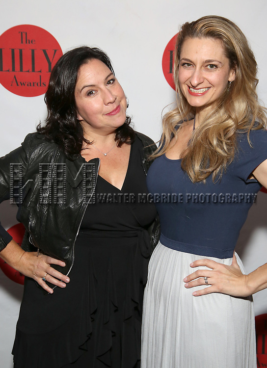 Kristen Anderson-Lopez and Sara Wordsworth attends The Lilly Awards Broadway Cabaret at the Cutting Room on October 17, 2016 in New York City.