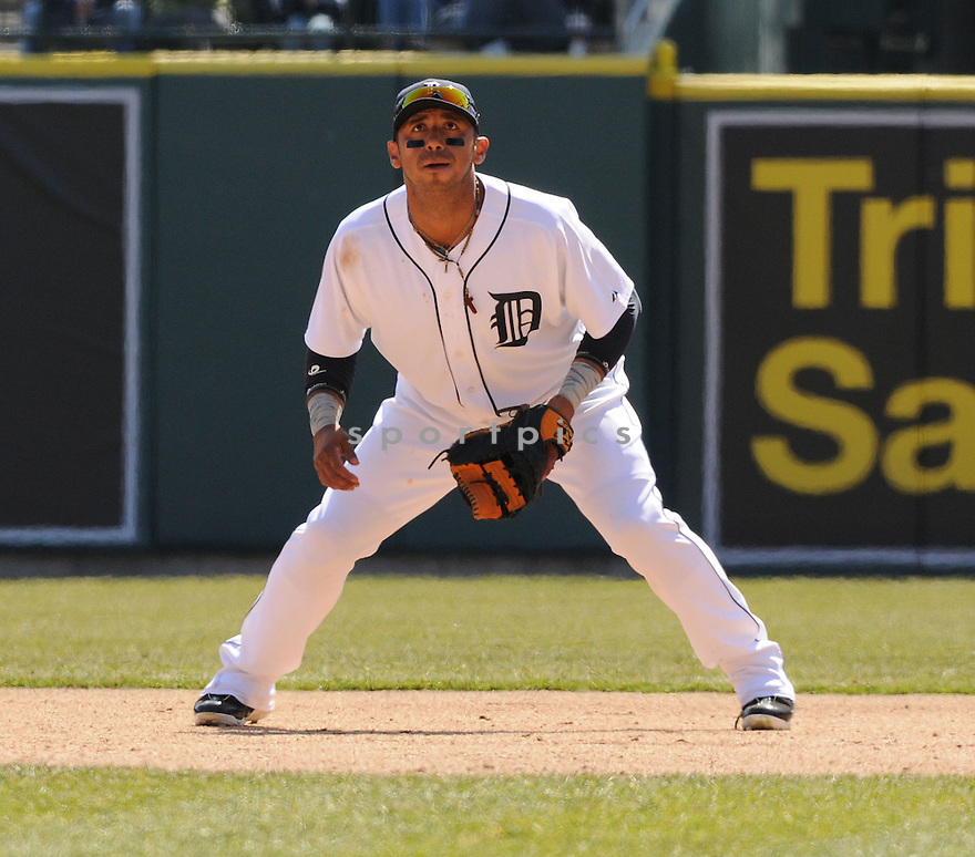 CARLOS GUILLEN,  of the Detroit Tigers in action  during the Tigers game against the Kansas City Royals.  The Royals beat the Tigers 4-0 in Detroit, Michigan on April 2, 2008...David Durochik