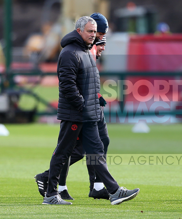 Manchester United manager Jose Mourinho during the UEFA Europa League training session at the AON Training Complex, Manchester. Picture date: November 23rd 2016. Pic Matt McNulty/Sportimage