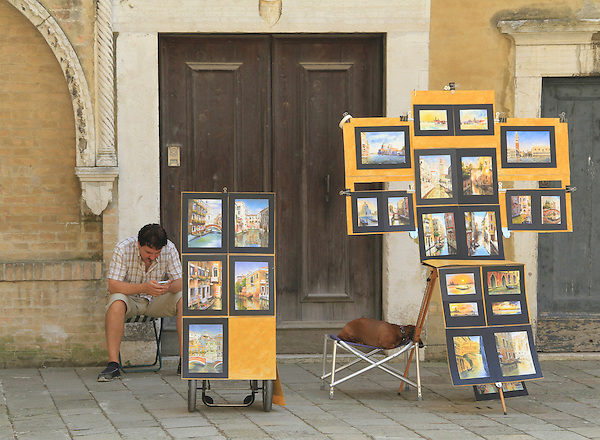Italy, Venice. Souvenir Photo.<br />