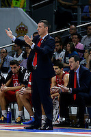 JOAQUIN RUIZ LORENTE Coach of CAI Zaragoza 2014 November 30 Madrid Spain. ACB LIGA ENDESA 14/15, 9º Match, match played between Real Madrid Baloncesto vs CAI Zaragoza at Palacio de los deportes stadium.