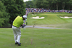 Felipe Aguilar (CHI) tees off on the par3 2nd tee during the Final Day of the BMW PGA Championship Championship at, Wentworth Club, Surrey, England, 29th May 2011. (Photo Eoin Clarke/Golffile 2011)