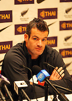 All Whites captain Ryan Nelsen at the World Cup Football play-off press conference during the All Whites v Bahrain build-up at Wellington Town Hall , Wellington, New Zealand on Tuesday, 10 November 2009. Photo: Dave Lintott / lintottphoto.co.nz