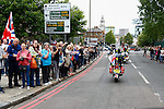 LONDON, ENGLAND, 22 May ,2014.  Bikers arrive in Woolwich to mark the first anniversary of the murder of Fusilier Lee Rigby  near his Woolwich barracks.