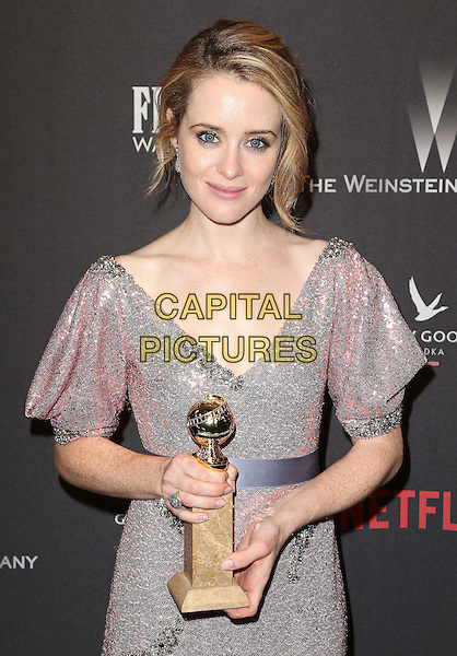 08 January 2016 - Beverly Hills, California - Claire Foy. 2017 Weinstein Company And Netflix Golden Globes After Party held at the Beverly Hilton. <br /> CAP/ADM/FS<br /> &copy;FS/ADM/Capital Pictures