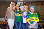 Noelle O'Sullivan, Claire Galvin Aishling McMahon, Laura Scannell getting ready to watch the all Ireland Final, Kerry V Donegal, on Sunday at the Greyhound Bar