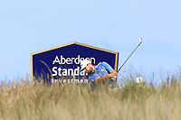 Tyrrell Hatton (ENG) on the 5th during Round 4 of the Aberdeen Standard Investments Scottish Open 2019 at The Renaissance Club, North Berwick, Scotland on Sunday 14th July 2019.<br /> Picture:  Thos Caffrey / Golffile<br /> <br /> All photos usage must carry mandatory copyright credit (© Golffile | Thos Caffrey)