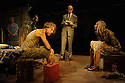 Two Shed Theatre's AFRICAN GOTHIC, by Reza de Wet, directed by Roger Mortimer and Deborah Edgington, opens at Park Theatre. Picture shows: Lesley Ewen (Alina), Oliver Gomm (Frikkie), Adam Ewan (Grové), Janna Fox (Sussie).