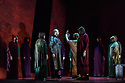 """Buxton International Festival presents """"Macbeth"""", by Verdi, at Buxton Opera House, Buxton, Derbyshire.  Picture shows: Stephen Gadd (Macbeth), and the chorus (witches)"""