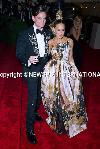 "SARAH JESSICA PARKER.attends the Costume Institute Gala at the Metropolitan Museum of Art, New York.The event is considered the Oscars of the Fashion world_06/05/2013.Mandatory credit photo:©Dias/NEWSPIX INTERNATIONAL..**ALL FEES PAYABLE TO: ""NEWSPIX INTERNATIONAL""**..PHOTO CREDIT MANDATORY!!: NEWSPIX INTERNATIONAL(Failure to credit will incur a surcharge of 100% of reproduction fees)..IMMEDIATE CONFIRMATION OF USAGE REQUIRED:.Newspix International, 31 Chinnery Hill, Bishop's Stortford, ENGLAND CM23 3PS.Tel:+441279 324672  ; Fax: +441279656877.Mobile:  0777568 1153.e-mail: info@newspixinternational.co.uk"