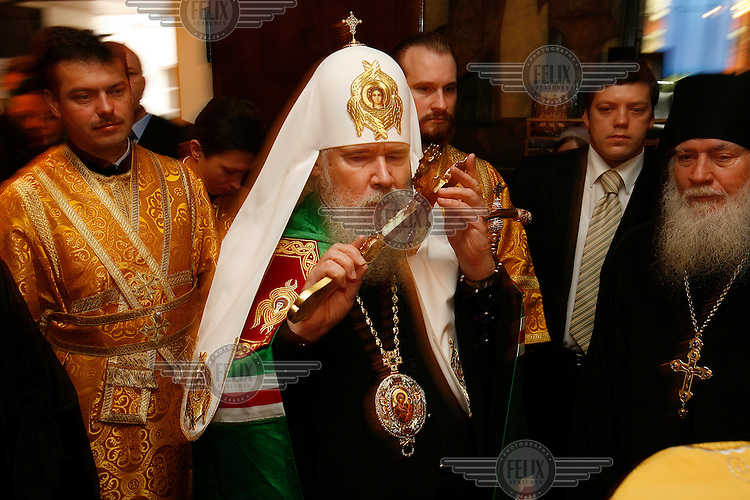 Alexis II, the Orthodox patriarch of Moscow.