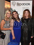 Michelle McCann, Fidelma Hatch, and Sheila Coyle at the Red Door Project dinner dance in the Westcourt hotel. Photo:Colin Bell/pressphotos.ie