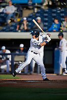West Michigan Whitecaps center fielder Jacob Robson (7) at bat during a game against the Clinton LumberKings on May 3, 2017 at Fifth Third Ballpark in Comstock Park, Michigan.  West Michigan defeated Clinton 3-2.  (Mike Janes/Four Seam Images)