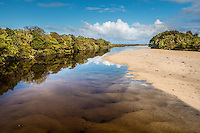Mouth of Oparara River, Buller, West Coast, New Zealand - stock photo, canvas, fine art print
