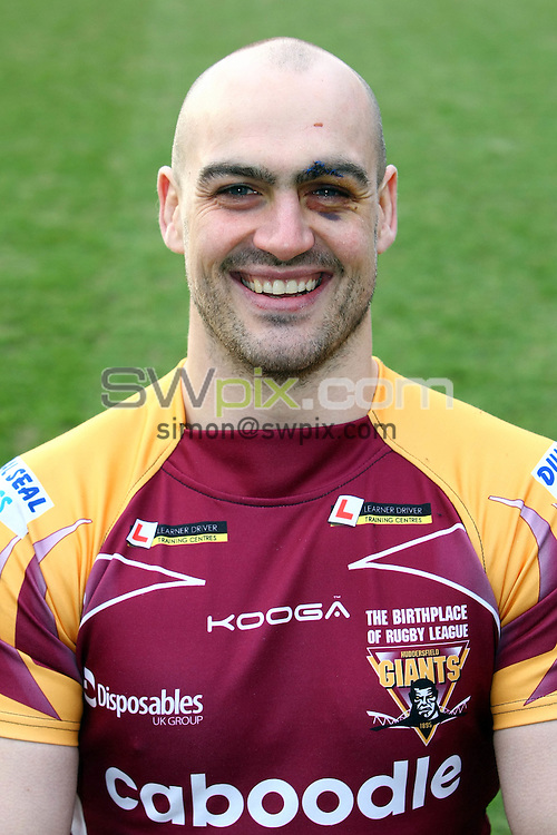 PICTURE BY VAUGHN RIDLEY/SWPIX.COM...Rugby League - Super League - Huddersfield Giants Media Day, Team Group & Headshots - Galpharm Stadium, Huddersfield, England - 28/01/11...Huddersfield's Andy Raleigh.