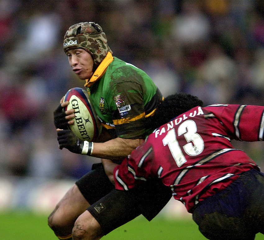 Photo - Peter Spurrier.28/12/2002.Sport - Rugby - Zurich Premiership .Northampton Saints v Gloucester RFC.Bruce Reihana