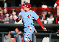 May 29th 2008:  Jake Blalock of the Reading Phillies, Class-AA affiliate of the Philadelphia Phillies, during a game at Jerry Uht Park in Erie, PA.  Photo by:  Mike Janes/Four Seam Images