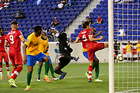 Harrison, NJ - Friday July 07, 2017: Dejan Jakovic scores a goal during a 2017 CONCACAF Gold Cup Group A match between the men's national teams of French Guiana (GUF) and Canada (CAN) at Red Bull Arena.