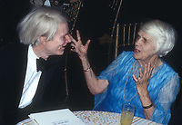 Andy Warhol Lillian Carter 1977 @Studio 54<br /> Photo By Adam Scull/PHOTOlink.net