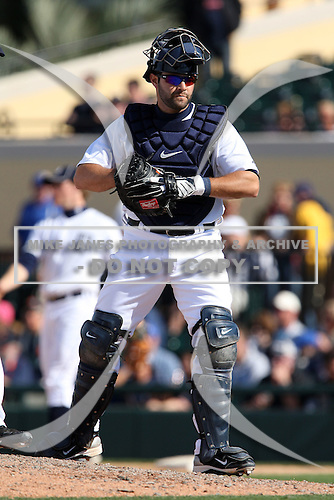 March 5, 2010:  Catcher Alex Avila of the Detroit Tigers during a Spring Training game at Joker Marchant Stadium in Lakeland, FL.  Photo By Mike Janes/Four Seam Images