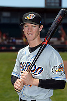 Akron RubberDucks second baseman Joe Wendle (7) poses for a photo before a game against the Erie SeaWolves on May 18, 2014 at Jerry Uht Park in Erie, Pennsylvania.  Akron defeated Erie 2-1.  (Mike Janes/Four Seam Images)
