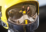 Women in Engineering<br /> Shauna Gibbon &amp; Shayla Davies from Ysgol Garth Olwg at Wales &amp; West Utilities fire training facility in Cardiff.<br /> 23.06.14<br /> &copy;Steve Pope-FOTOWALES