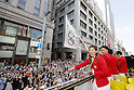 (L-R) Saori Yoshida, Yusuke Tanaka (JPN), <br /> OCTOBER 7, 2016 :<br /> Japanese medalists of Rio 2016 Olympic and Paralympic Games wave to spectators during a parade from Ginza to Nihonbashi, Tokyo, Japan.<br /> (Photo by Yusuke Nakanishi/AFLO SPORT)