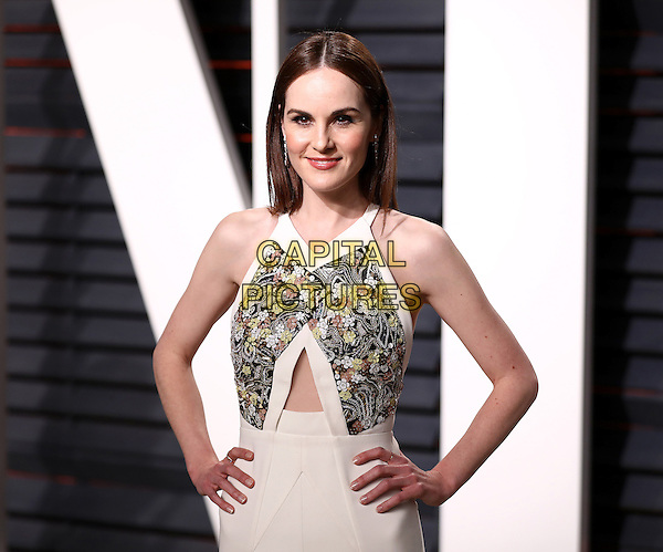 BEVERLY HILLS - FEBRUARY 26:  Michelle Dockery attends the Vanity Fair Oscar Party 2017 on February 26, 2017 in Beverly Hills, California.<br /> CAP/MPI99<br /> &copy;MPI99/Capital Pictures