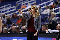 GREENSBORO, NC - MARCH 6: Head coach Joanna Bernabei-McNamee of Boston College during a game between Clemson and Boston College at Greensboro Coliseum on March 6, 2020 in Greensboro, North Carolina.