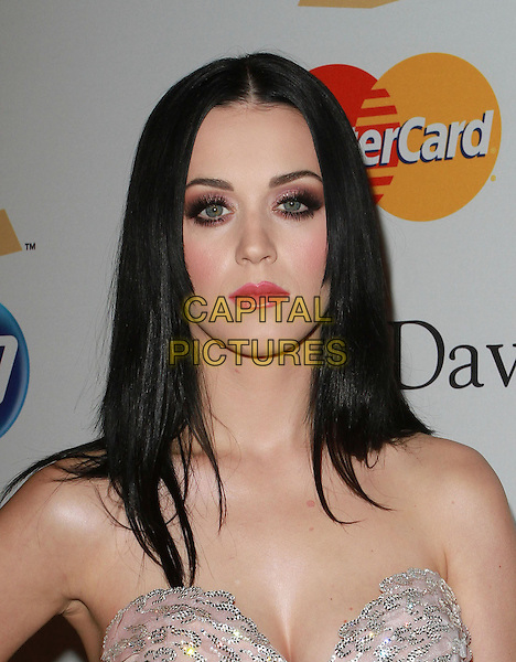 KATY PERRY .The 53rd Annual GRAMMY Awards - Salute To Icons Honoring David Geffen held At The Beverly Hilton Hotel,  Beverly Hills, California, USA, .12th February 2011..portrait headshot make-up gothic goth eyelashes false beauty strapless pink silver sequined sequin lipstick blusher eyeshadow cleavage .CAP/ADM/KB.©Kevan Brooks/AdMedia/Capital Pictures.