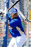13 March 2007: Los Angeles Dodgers third baseman Wilson Betemit takes batting practice prior to facing the Detroit Tigers in a spring training game at Holman Stadium in Vero Beach, Florida.<br /> <br /> Mandatory Photo Credit: Ed Wolfstein Photo