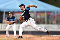 Asheville Tourists starting pitcher Nick Kennedy (8) delivers a pitch during a game against the Rome Braves at McCormick Field on September 2, 2018 in Asheville, North Carolina. The Braves defeated the Tourists 2-1. (Tony Farlow/Four Seam Images)