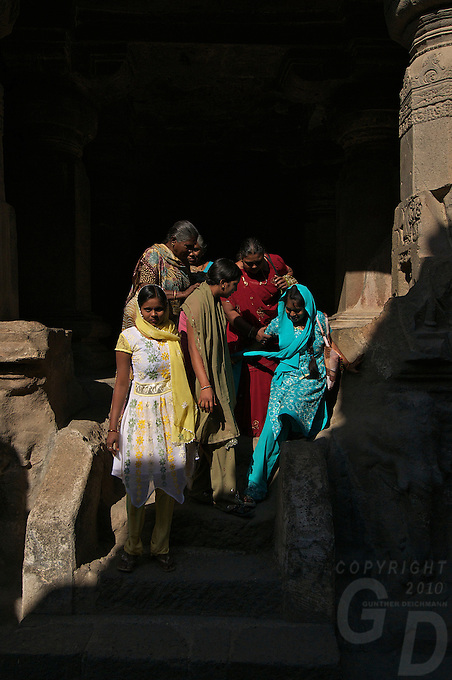 Ellora Caves Aurangabad in India..The famous Ellora caves are located in the lap of the Chamadari hills. These historical caves are regarded as world heritage and are situated 18 miles northwest of Aurangabad.  .A wonderful example of cave temple architecture, the world heritage Ellora caves own elaborate facades and intricately carved interiors. These carved structures on the inner walls of the caves reflect the three faiths of Hinduism, Buddhism and Jainism. These exotic caves were carved during 350 AD to 700 AD period. .Ellora caves are hewn out of basaltic rock of the Deccan trap, and are datable from circa 5th century A.D. to 11th century A.D. In all 34 caves were excavated here out of which Cave 1 to 12 are Buddhist, 13 to 29 are Brahmanical and 30 to 34 are Jaina. Cave10 in AjantaCavescontains theoldest Indian paintingsof historical period, made around the 1st century BC.<br /> <br /> ThecavesatAjantadate from the 2nd century B.C.E. to 650 C.E andwerecut into the mountainside in two distinct phases. Discovered by chance in 1819 by British soldiers on a hunt, theAjanta Caveshave become an icon of ancient Indian art, and have influenced subsequent artists and styles.<br /> <br /> Thesepaintingsbeautifully depict various events in the life of Lord Buddha. All the caves are divided into two categories namely the Chaityas or the shrines and the Viharas or the monasteries. Chaityas were used to worship Lord Buddha while the Viharas were used by the Buddhist monks for their meditation