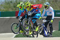 BARRANQUILLA - COLOMBIA, 28-07-2018:Competencia de BMX , en la pista Jefferson Milano (VEN) y Carlos Oquendo (Col).Juegos Centroamericanos y del Caribe Barranquilla 2018. /BMX competition, at the track Jefferson Milano (VEN) and Carlos Oquendo (Col)of the Central American and Caribbean Sports Games Barranquilla 2018. Photo: VizzorImage /  Contribuidor