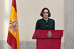 Spanish singer Luz Casal gives a speech during the National Culture Awards ceremony at El Pardo Palace in Madrid, Spain. February 16, 2015. (ALTERPHOTOS/Victor Blanco)