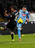 Jose Callejon shoot the ball during the Italian Serie A soccer match between SSC Napoli and Parma FC at San Paolo stadium in Naples