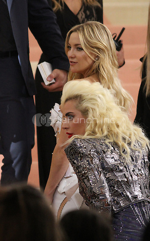 05 02 2016: Kate Hudson and Lady Gaga at Manus X Machina: Fashion In An Age of Technology at Metropolitan Museum of Art in New York. Credit:RWMediaPunch