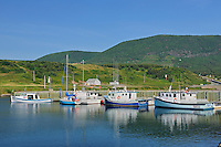 Fishing boats on Cape Breton<br /> St. Joseph du Moine<br /> Nova Scotia<br /> Canada