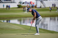 Danny Willett (GBR) watches his putt on 18 during round 1 of the WGC FedEx St. Jude Invitational, TPC Southwind, Memphis, Tennessee, USA. 7/25/2019.<br /> Picture Ken Murray / Golffile.ie<br /> <br /> All photo usage must carry mandatory copyright credit (© Golffile | Ken Murray)
