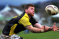 Andrew Wells chases a high kick during the Mitre 10 Cup preseason rugby match between the Wellington Lions and Manawatu Turbos at Otaki Domain in Otaki, New Zealand on Sunday, 6 August 2017. Photo: Dave Lintott / lintottphoto.co.nz