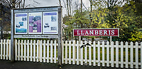Pictured: The Llanberis Lake Railway by Llyn Padarn lake. Saturday 02 November 2019<br /> Re: North Wales, UK.