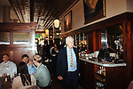 Ted Turner meets with Andrew Young in his restaurant Ted's Montana Grill in downtown Atlanta October 23, 2013.