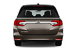 Straight rear view of a 2018 Honda Odyssey EX-L 5 Door Mini Van stock images