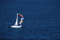 Sailboat on the ocean.