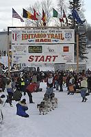Sam Deltour Willow restart Iditarod 2008.