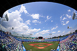Jingu Stadium,<br /> JULY 28, 2014 - Baseball :<br /> A general view inside of Jingu Stadium before the West Tokyo qualifying tournament for the 96th National High School Baseball Championship, Final game between Tokaidai Sugao 1-2 Nichidai Tsurugaoka in Tokyo, Japan. (Photo by Hitoshi Mochizuki/AFLO)