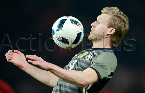 26.03.2016. Olympiastadion Berlin, Berlin, Germany.  Germany's Andre Schuerrle in action during the international friendly soccer match between Germany and England at the Olympiastadion