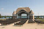 Minnesota, Twin Cities, Minneapolis-Saint Paul: The band shell at Lake Harriet..Photo mnqual277-75208..Photo copyright Lee Foster, www.fostertravel.com, 510-549-2202, lee@fostertravel.com.