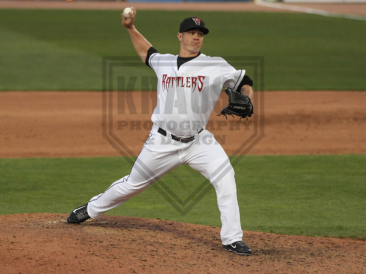 Wisconsin Timber Rattlers pitcher Mark Williams during a game against the Cedar Rapids Kernels on May 4th, 2015 at Fox Cities Stadium in Appleton, Wisconsin.  Cedar Rapids defeated Wisconsin 9-3.  (Brad Krause/Krause Sports Photography)