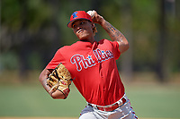 Philadelphia Phillies pitcher Maikel Garrido (68) during an Instructional League game against the Detroit Tigers on September 19, 2019 at Tigertown in Lakeland, Florida.  (Mike Janes/Four Seam Images)